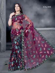 Charming Net Designer Artistic Sarees