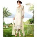 Divine Off White Churidar Kameez