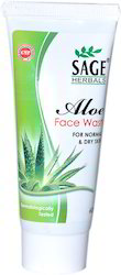Sage Clean & Glow Face Aloe Vera Face Wash, Pack Size: 100ml