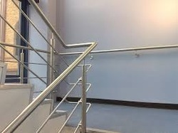 Round Stairs Stainless Steel Stair Handrail, For Home