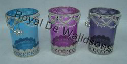 Decorative Round Glass Votive