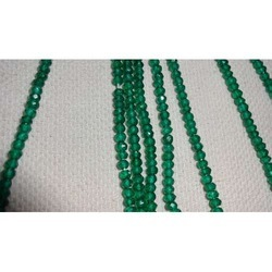 Dark Green Color Coated Crystal Cut Beads