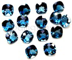 London Blue Topaz Checkerboard Cushion Gemstone