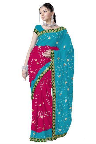 f84272a947 Rajasthani Bandhej Saree, Rajasthani Bandhej Saree | Amer Road ...