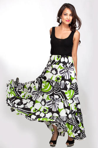 Long Skirt Printed - Dress Ala