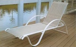 Aluminium Fabric Deck Chair