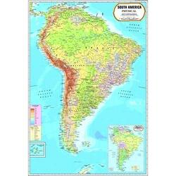 World Physical Maps - South America Physical Map Exporter from Mumbai
