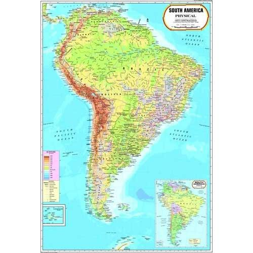 South America Physical Map World Physical Maps Goregaon West