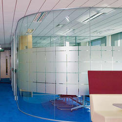 Bend Glass Partition