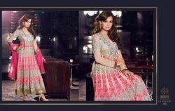 Georgette Semi-Stitched Anarkali Suits