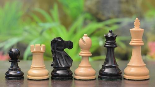 Economy Chess Sets - Tournament Chess Pieces In Stained Dyed