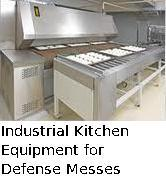 Industrial Kitchen Equipment For Defense Messes