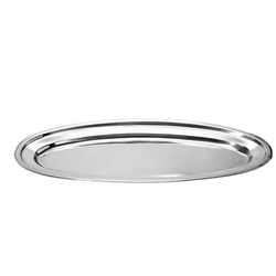 MIRRO Metal Fish Tray, Shape: Oval, Thickness: 0.4 / 0.5 / 0.6 / 0.7 Mm