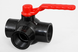 Payal Plastic PVC Three Way Ball Valve, Size: 1 To 2.5, 32 Mm To 75mm