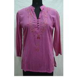 Chikan Embroidery Trendy Stitched Kurta
