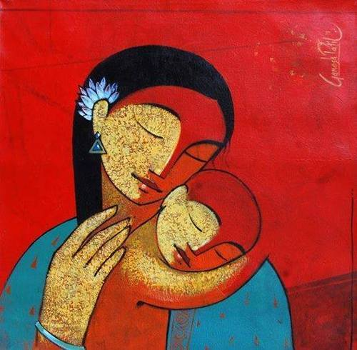 Religion Painting & Mom And Son Painting Service Provider From