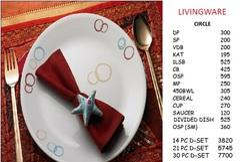 Corelle Circle 30 PC Dinner Set