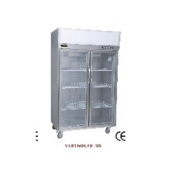 Refrigerator With Two Glass Door