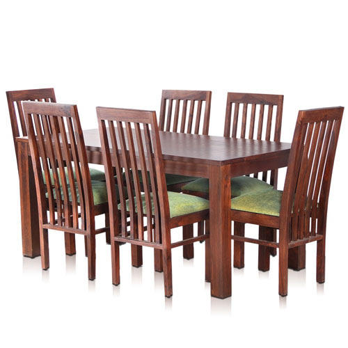 Dining Furniture Manufacturers: Bombay Solid Wood Dining Table With 6