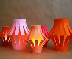 Fluorescent Antique, Handmade Paper Lamp