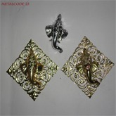 Metal Ganpati for Door Hangings Size Of 4''/4''