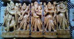 Wooden God Figures Set