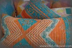 Kantha Sari Pillow