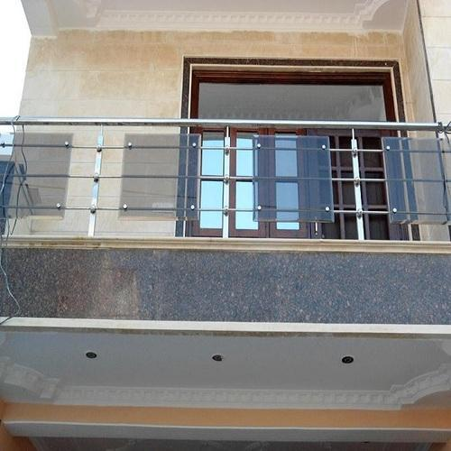 Stainless Steel And Glass Balcony Railing Vishwas Steel