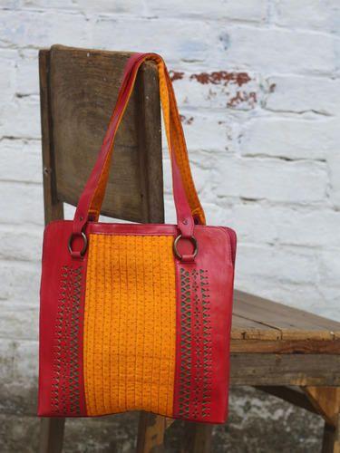 Leather Mushru Handbag