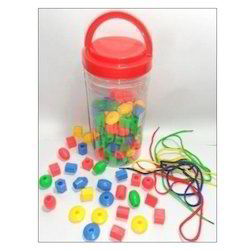 Plastic Beads of Different Shapes Small