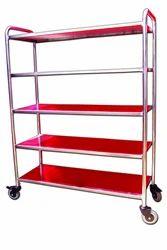 Stainless Steel Shelf Trolley