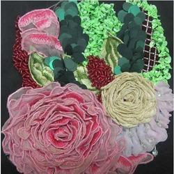 Applique Embroidered Fabric