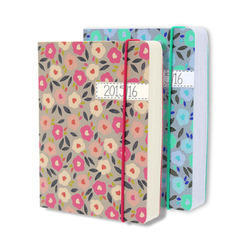 Synthetic Pu Leather Wire Elastic Diary, For Daily Notes, Yearly