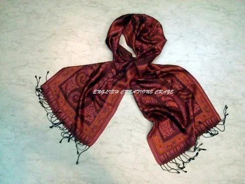 80811693c Silk Jamawar Scarves, Silk Scarves | Green Avenue, Amritsar ...