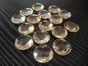 Citrine Round Checker Briollite Gemstone
