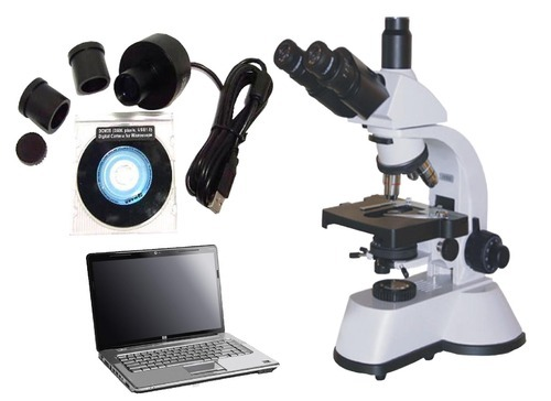 Compound microscope with usb camera rescholar equipment ambala