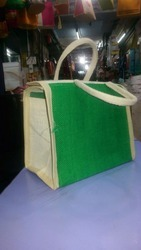 Green Color Jute Lunch Bag