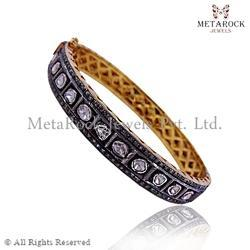 Polki Rose Cut Diamond Bangle