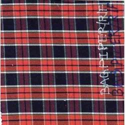NGBAGPIPER-R-F Indigo Yarn Dyed Checks Fabric
