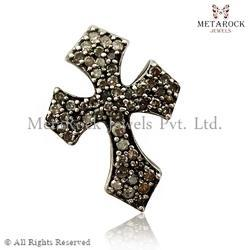 Pave Diamond Cross Diamond Finding