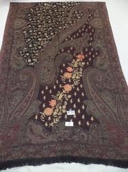 Pure Woolen Jamawar with Embroidery & Sequin Work Stoles