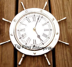 Nautical Wheel Decor Clock