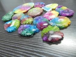 Seven Color Druzy Loose Shape Sizes Gemstone