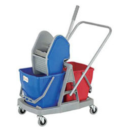 Down Press Double Mop Wringer Trolley