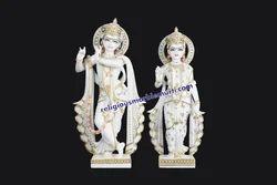 White Marble Statue Radha Krishna