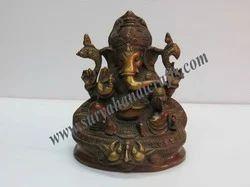 Brass Gold Panting Ganesha