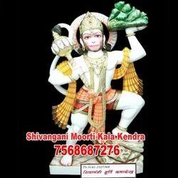 Marble Veer Hanuman Murti