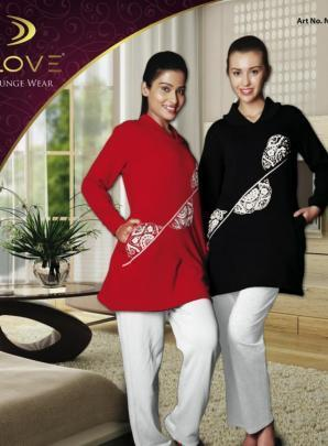 57b2103f54 Dove Nightsuit Set With Printed Top at Rs 2079 | Night Suits | ID ...