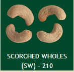 Scorched Wholes (SW) - 210 Cashew Nuts