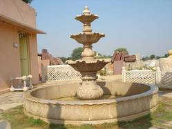 Pink Sand Stone Fountain